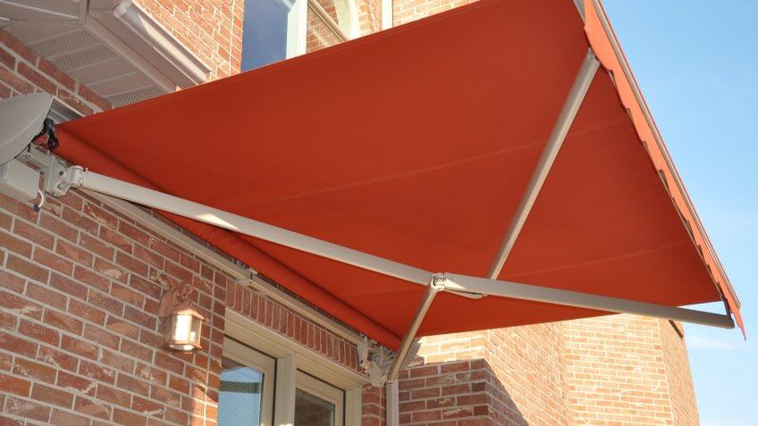 cross arm folding lateral arm retractable awning