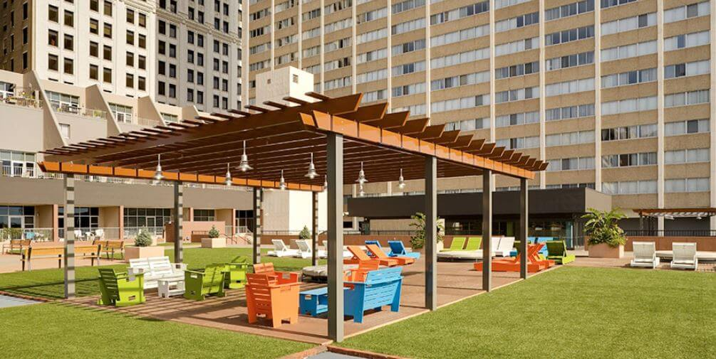 commercial wood freestanding pergola
