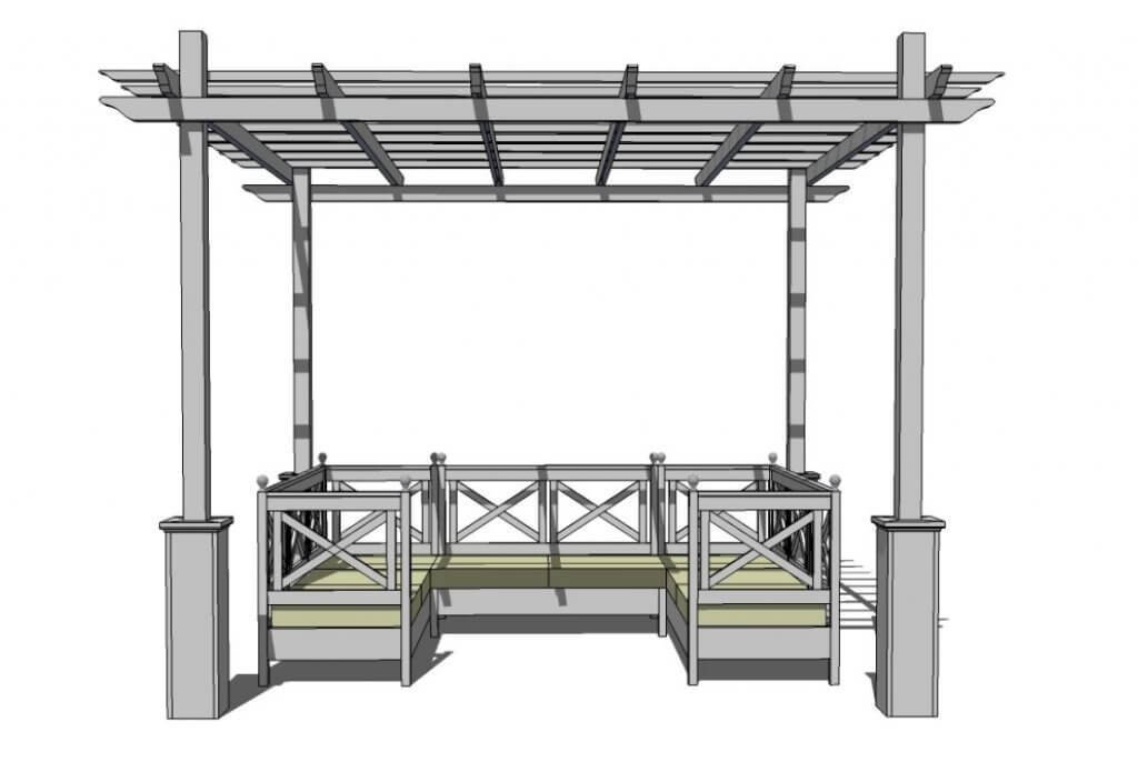 diy pergola drawing design