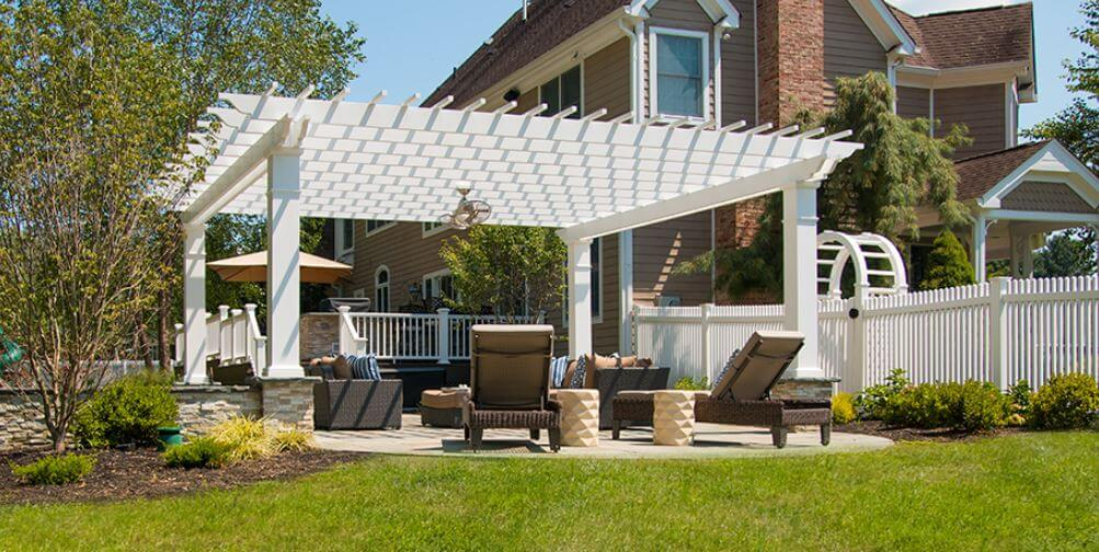 residential wood freestanding pergola