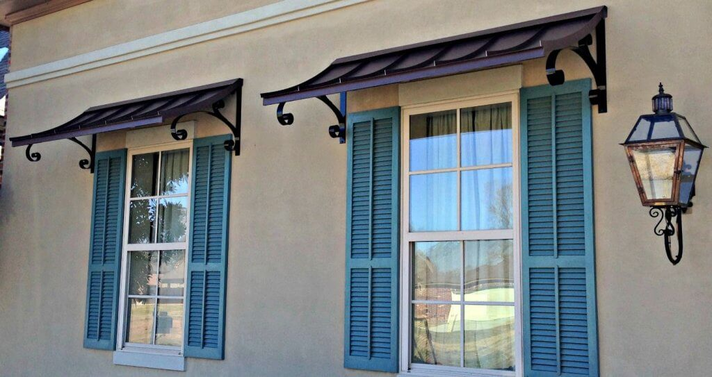 fixed metal awning