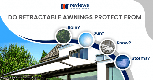 Do Retractable Awnings Protect From Rain, Sun, Snow and Storms?