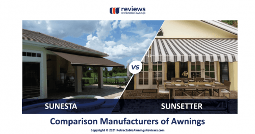 Sunesta vs Sunsetter — Comparison Manufacturers of Awnings