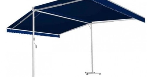 awntech richmond double sided free standing retractable awnings