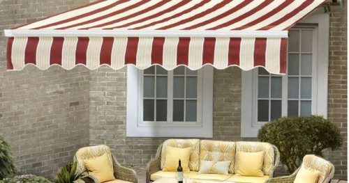 sunjoy folding lateral arm retractable awning